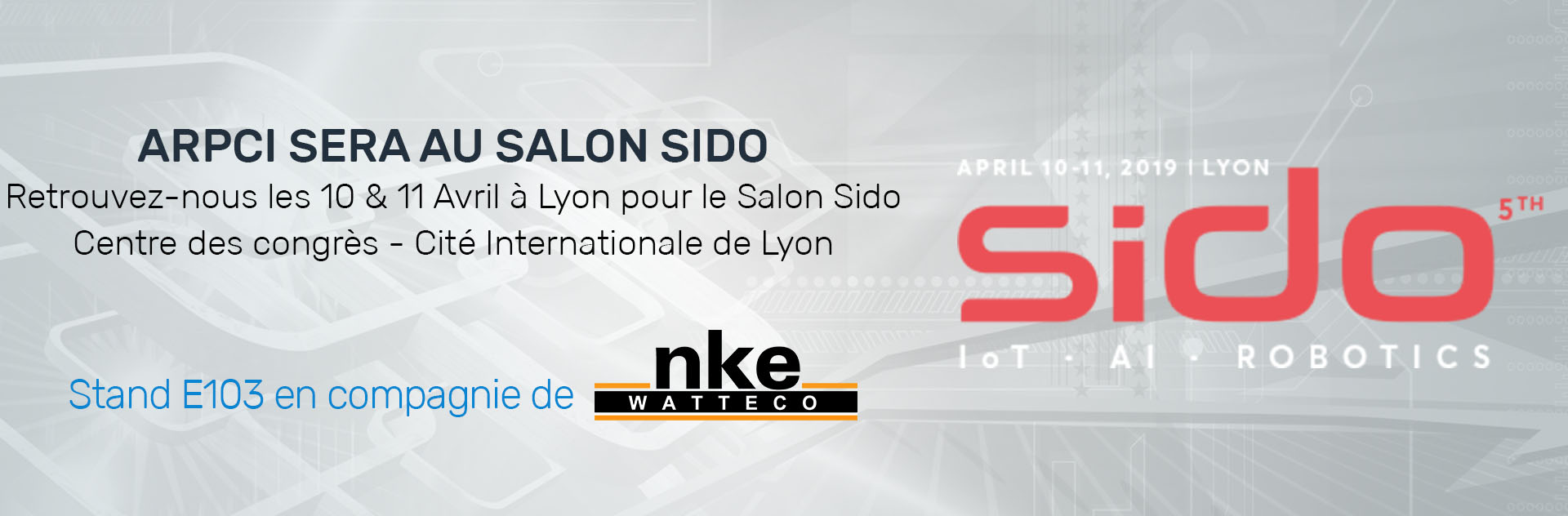 Bannière d'annonce du salon Sido